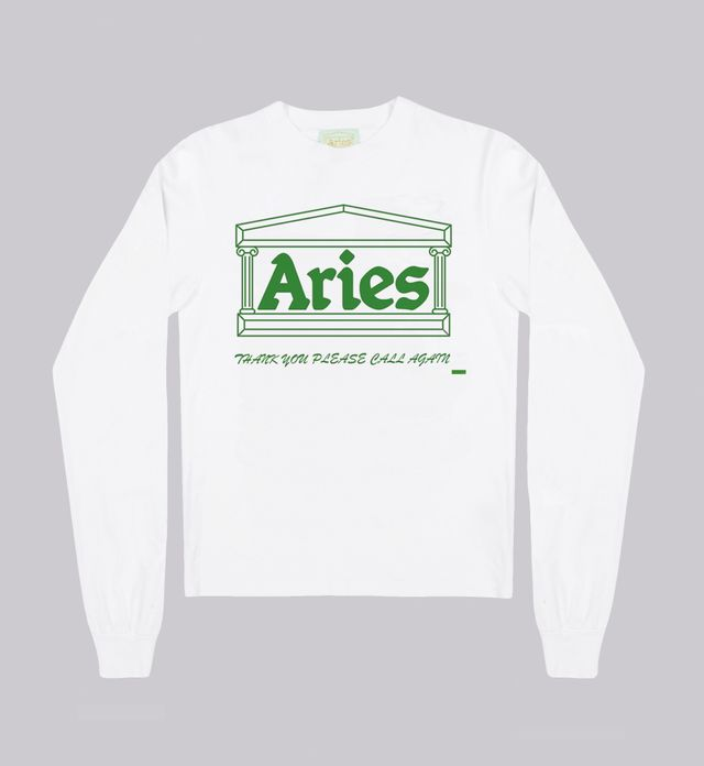 Aries Carrier Bag Superlong Sleeve T-Shirt