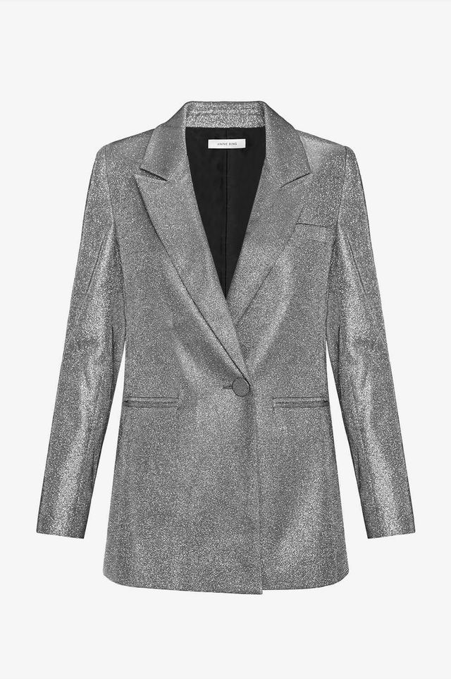 Anine Bing Ace Blazer in Gunmetal