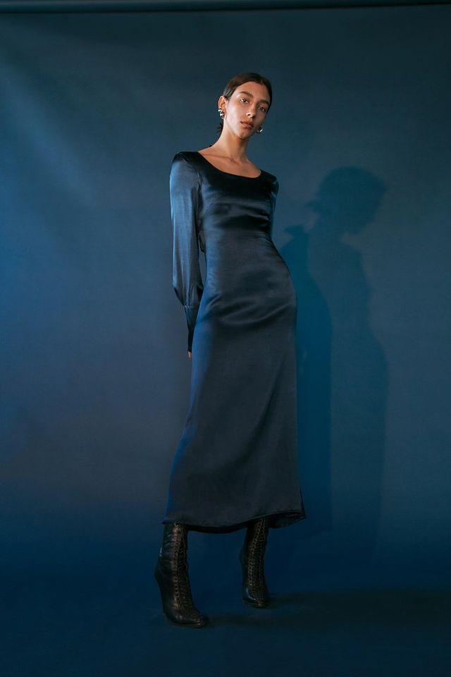 The Line by K Ziggy Dress in Navy Blue