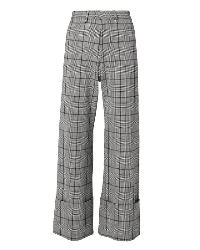 Sea Bacall Plaid Cuff Trousers Grey 6