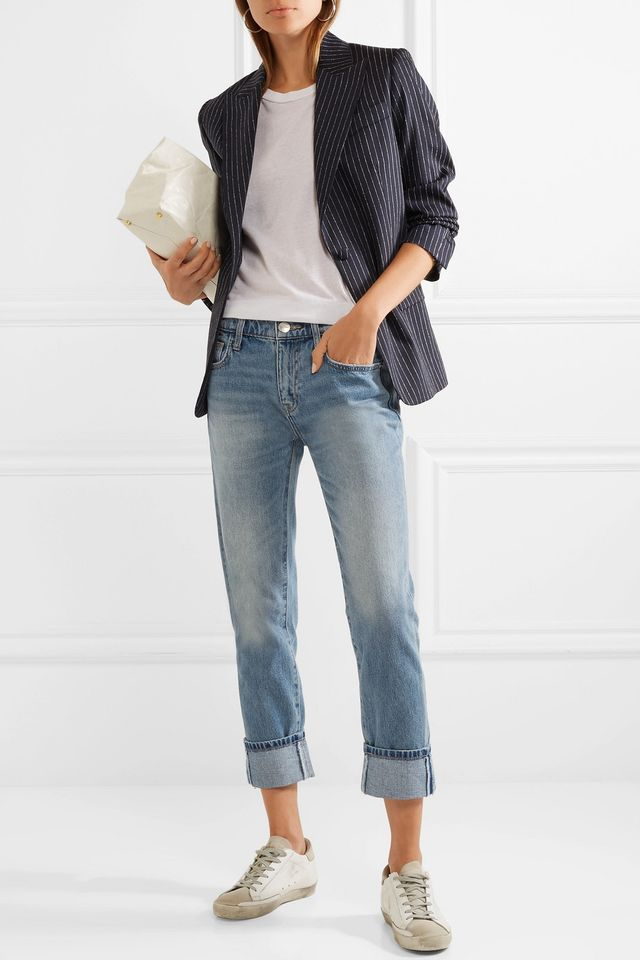 The Fling Distressed Low-rise Slim Boyfriend Jeans