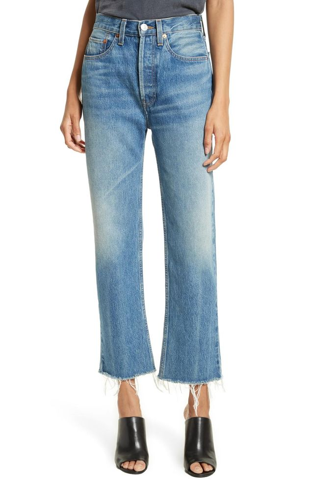 Women's Re/done High Waist Stove Pipe Jeans