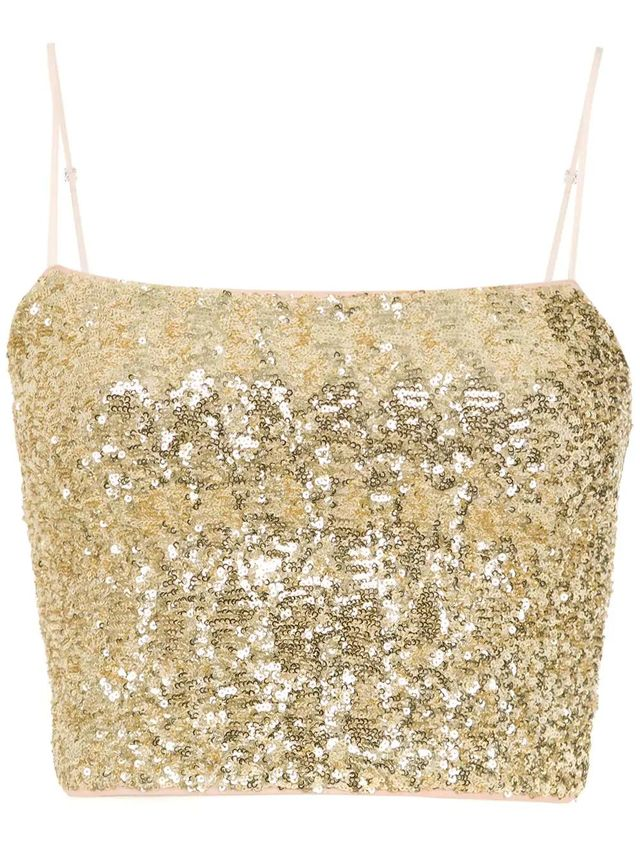 sequin cropped top