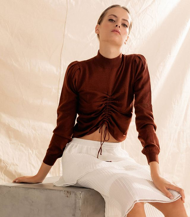 Chriselle Lim Collection Madison Ruched Sweater