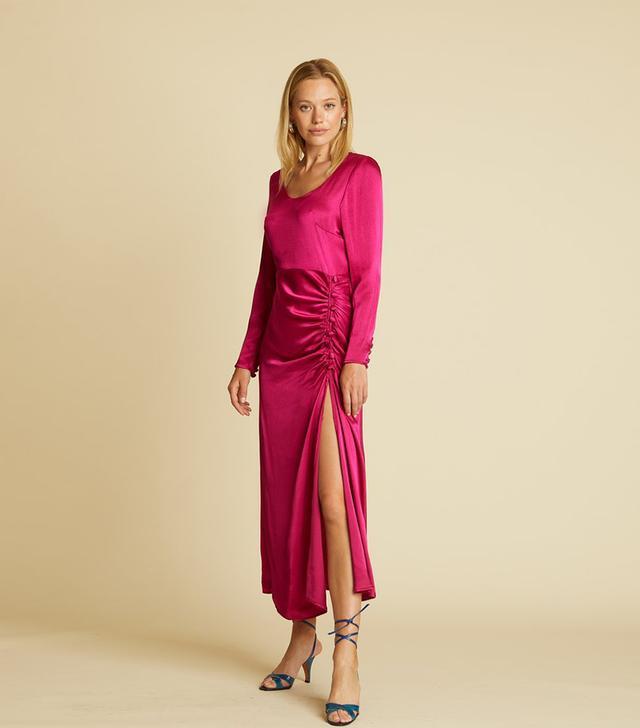 The Line by K Elio Dress in Magenta