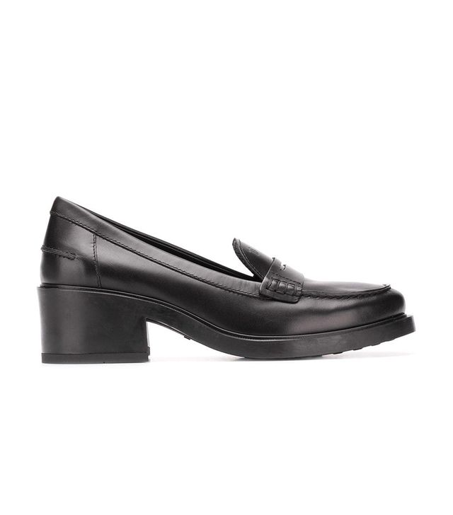 Mocassin heeled loafers