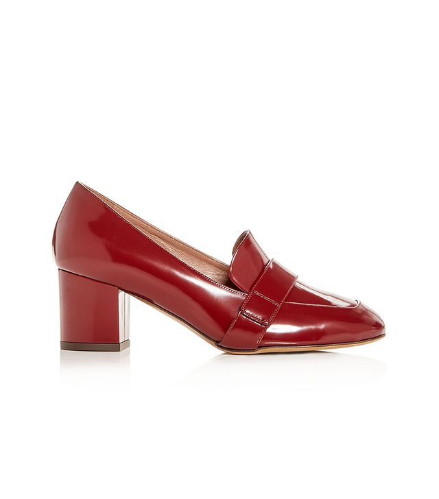 Mika Leather Block-Heel Loafers