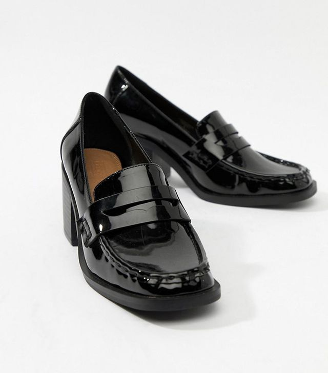 Taxon heeled loafers