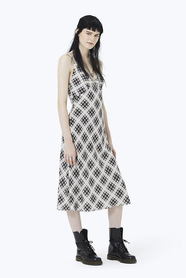 Marc Jacobs Plaid Strap Midi Dress