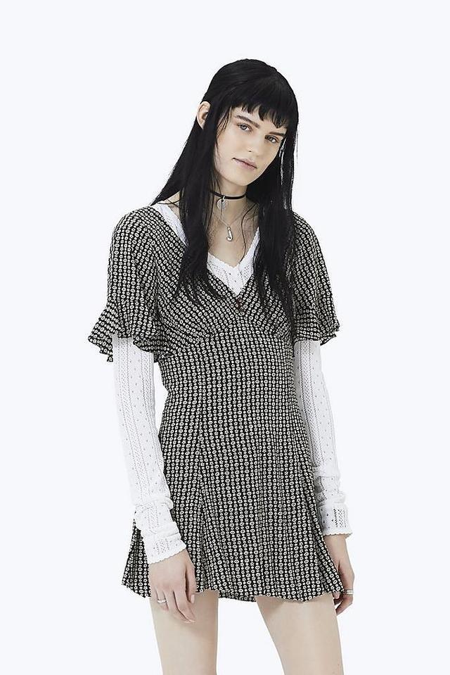 Marc Jacobs Flower Chain Ruffle Mini Dres