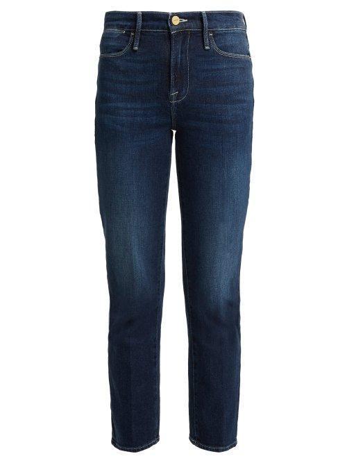 - Le High Straight Leg Jeans - Womens - Dark Blue