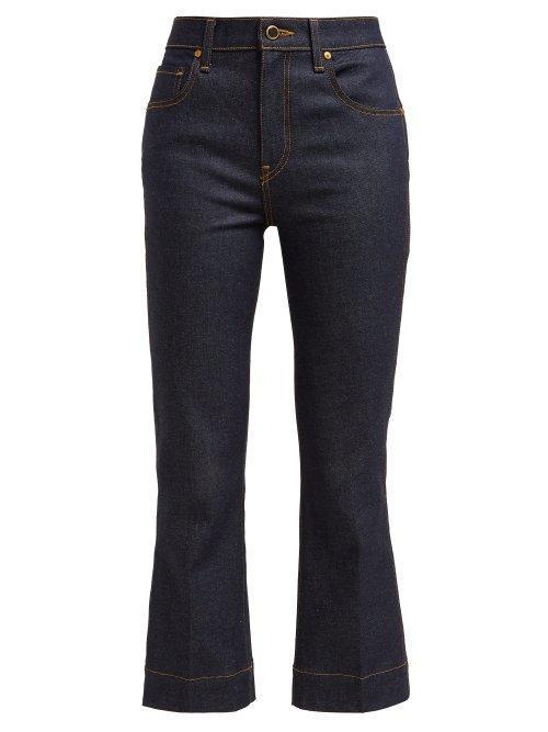 - Fiona Mid Rise Kick Flare Jeans - Womens - Denim
