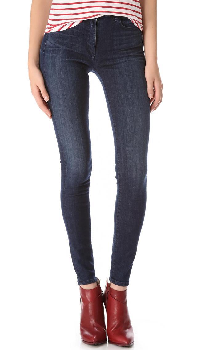 W3 Channel Seam Skinny Jeans