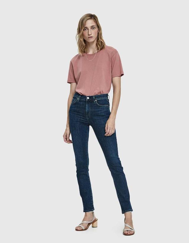 Harlow High Rise Slim Jean in Carmel