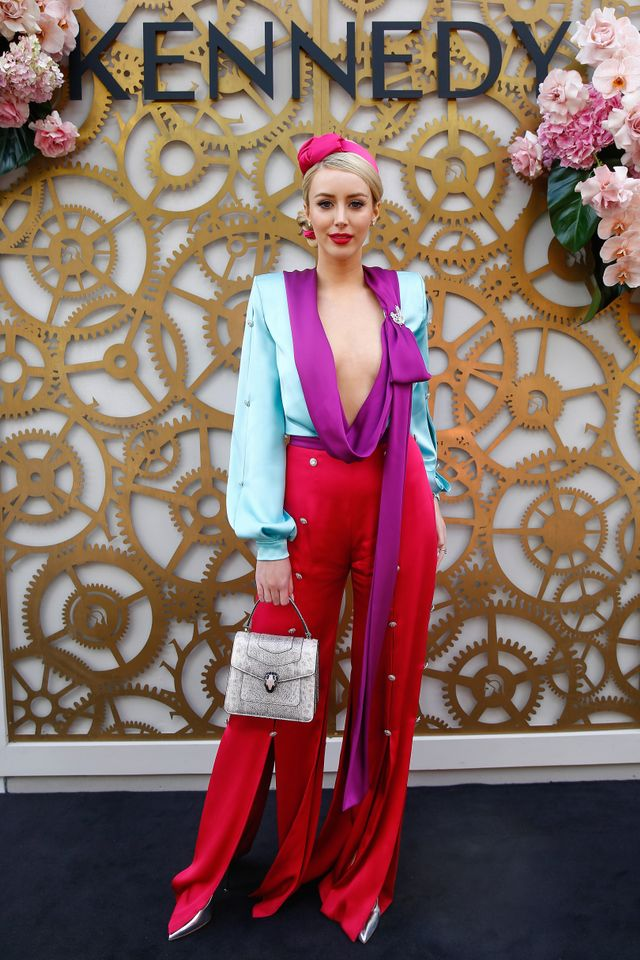 """<p>Jamiee Belle Kennedy wearing a<a href=""""https://ralphandrusso.com/couture/autumn-winter-2018/lookbook?look=17"""" target=""""_blank"""">Ralph and Russo blouse and pants</a> and a<a..."""