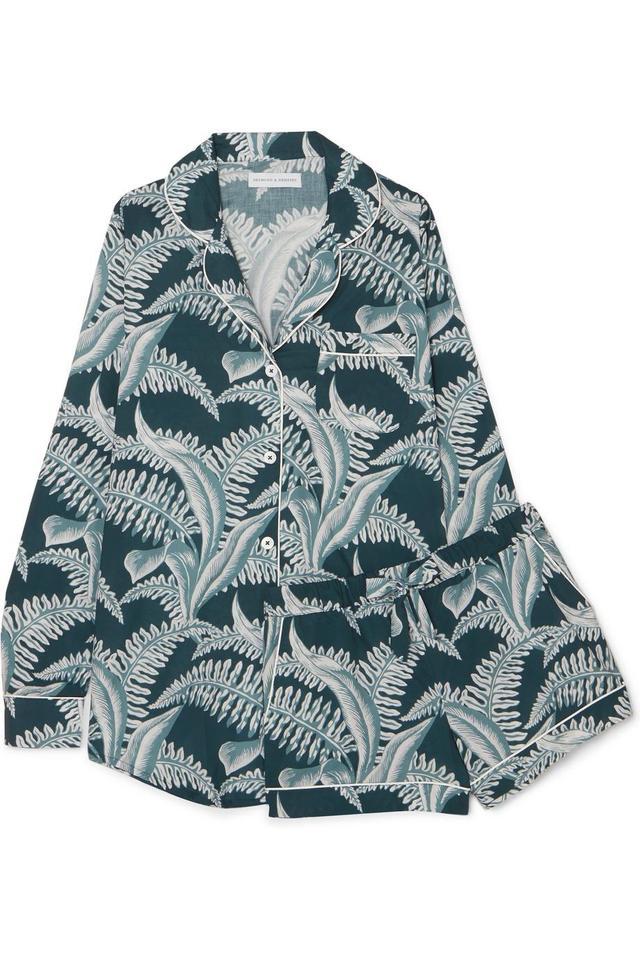 Printed Cotton-voile Pajama Set