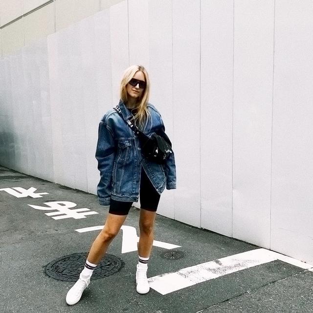 Bike Shorts Street Style @thefashionguitar