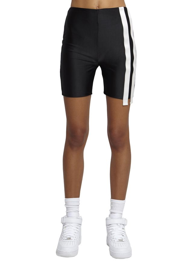 Danielle Guizio Double Stripe Bicycle Shorts