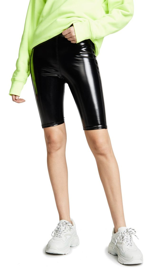 Downtown Patent Biker Shorts