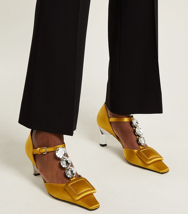 Marni Crystal-Embellished Pumps