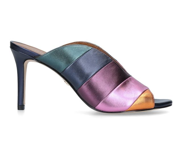 Kurt Geiger London Rainbow Stripe Mid Heel Mules