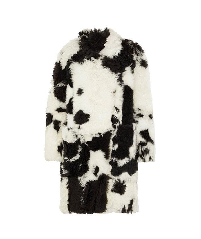 Printed Shearling Coat