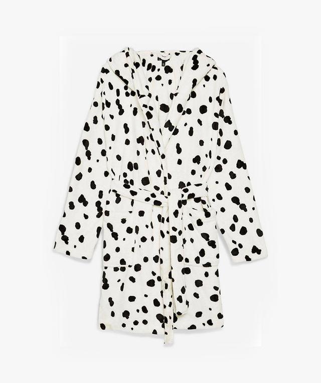 Topshop Dalmatian Print Robe