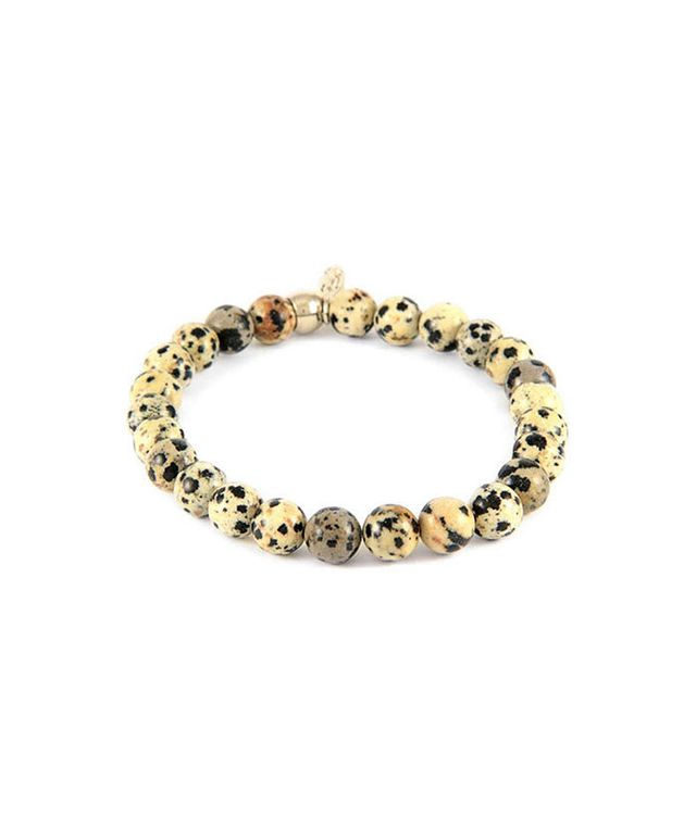 Dalmatian Jasper Bead Bracelet