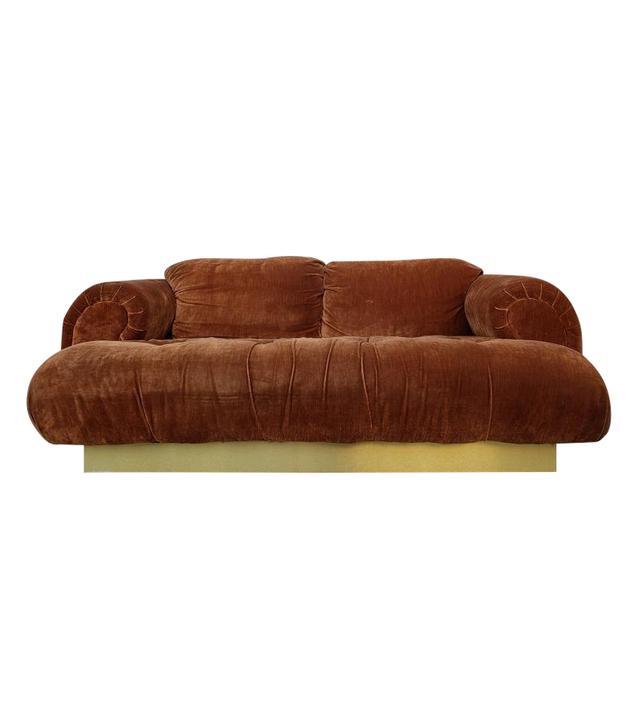 Vintage Steve Chase Burnt Orange Sofa