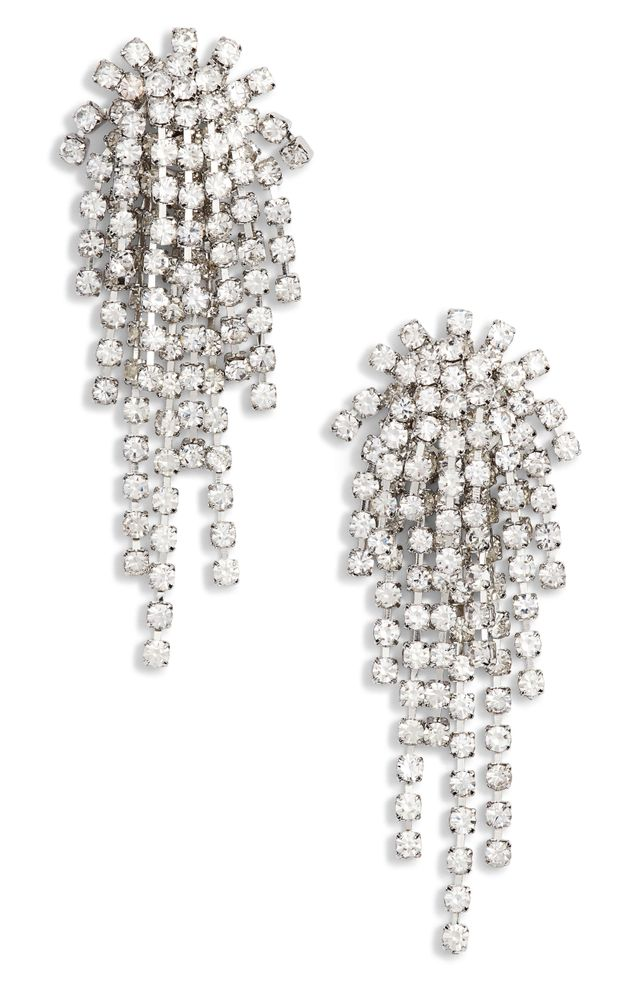 Cristabelle Rhinstone Cluster Earrings