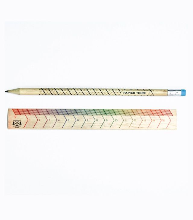 Paper Tigre Rainbow Ruler and Pencil