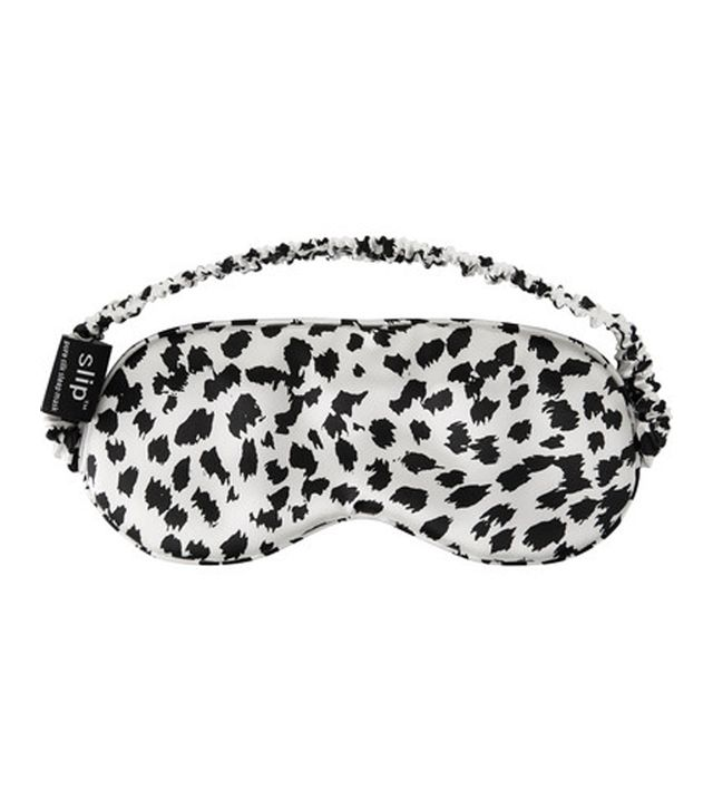 Slip Leopard-print Silk Eye Mask