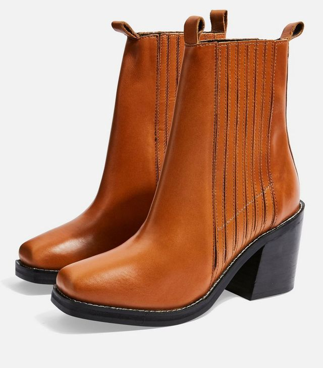 Topshop Monty Square Toe Ankle Boots