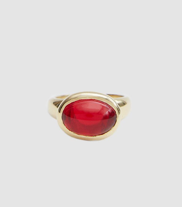 Wonderful Red Glass Ring