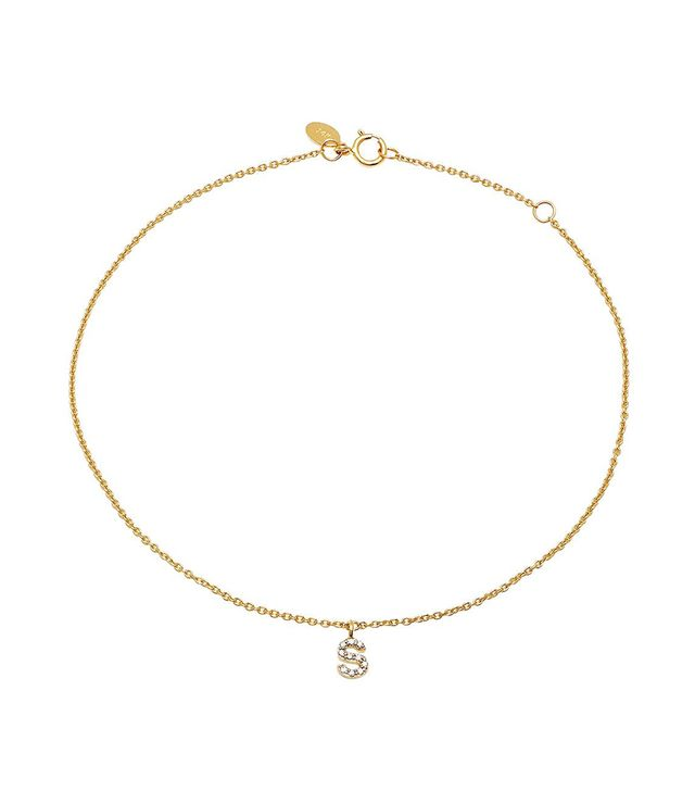 Eriness Diamond Mini Initial Anklet