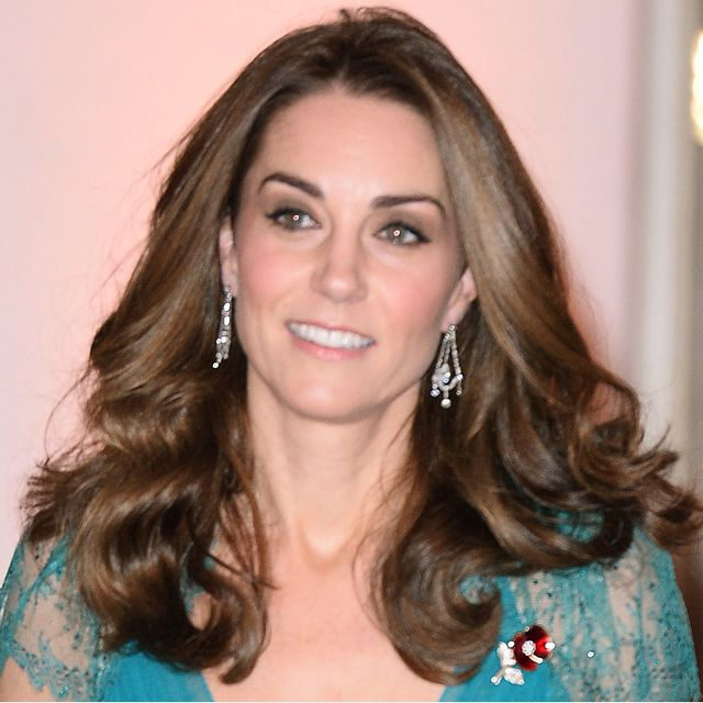 See Kate Middleton's Sheer Red Carpet Dress From Every Angle