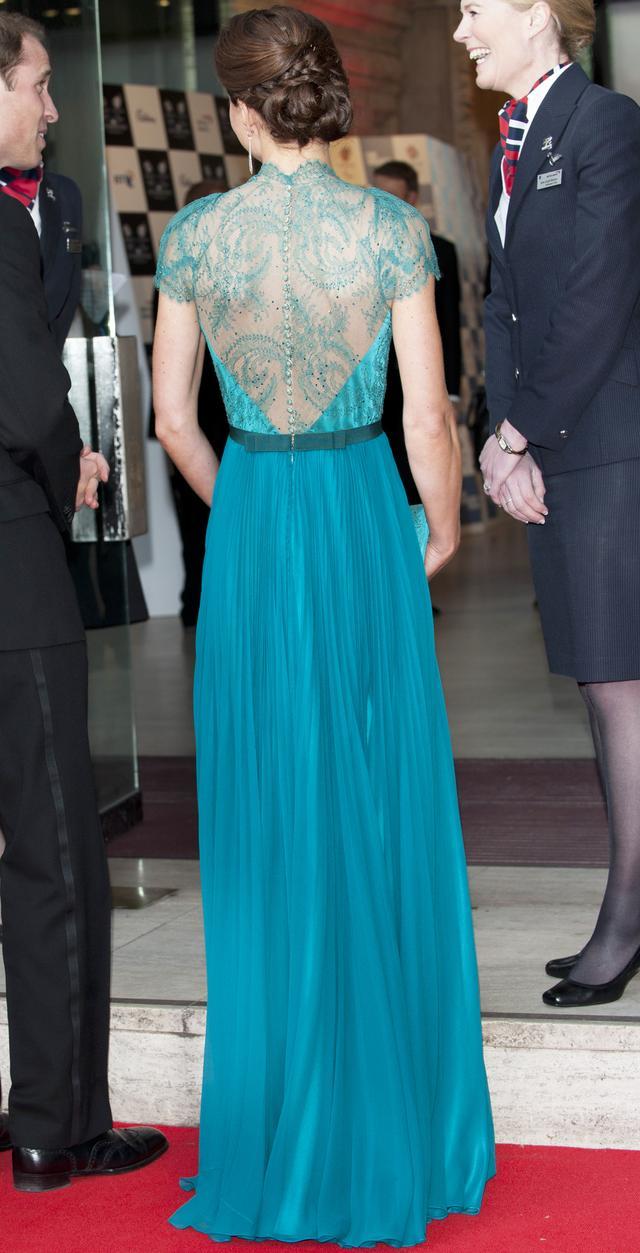 Kate Middleton's Sheer-Back Dress