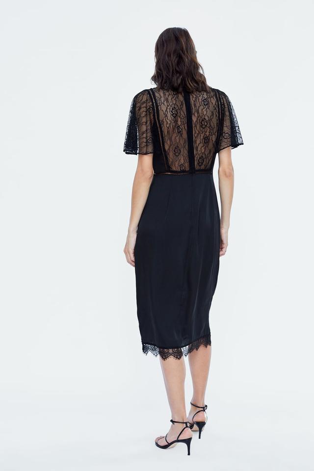 Zara Long Dress With Matching Lace