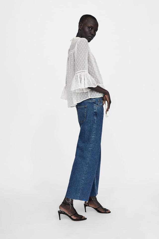 Zara Embroidered Romantic Blouse