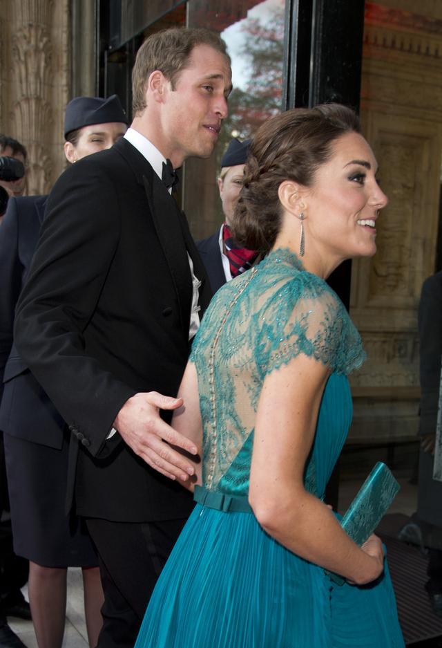 Kate Middleton Red Carpet Sheer Dress