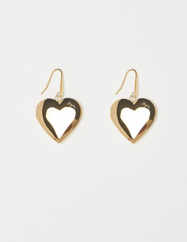 Bagatiba Heart Locket Drop Earrings