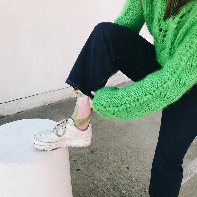 Fashion-girl It pieces: slime green
