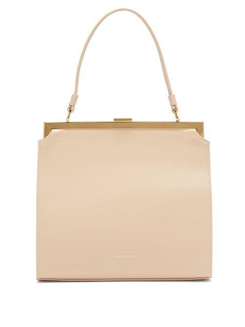 - Elegant Leather Bag - Womens - Beige