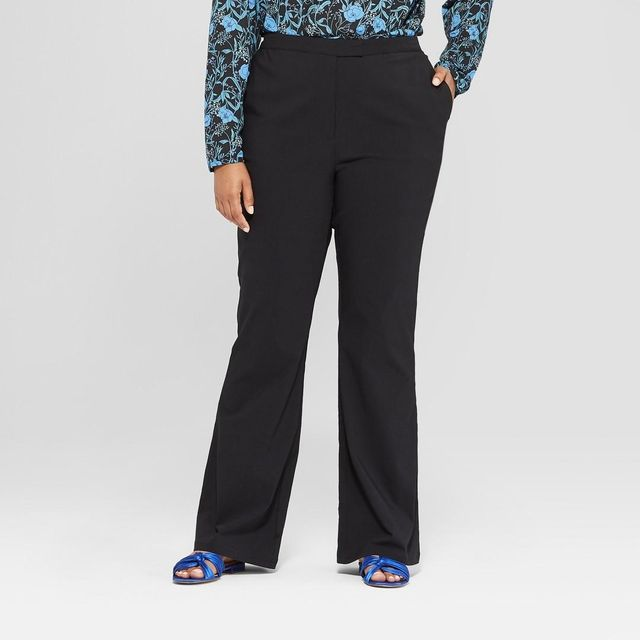 Plus Size Classic Bootcut Trousers
