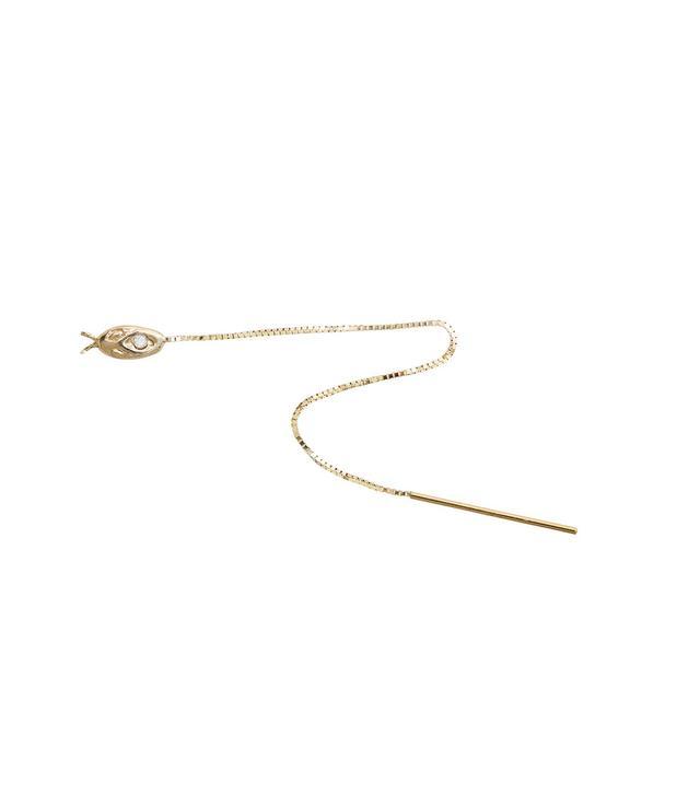 1909 by Erica Weiner Diamond Snake Threader Earring