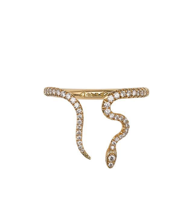 Nora Kogan Alexandra Diamond Open Snake Ring