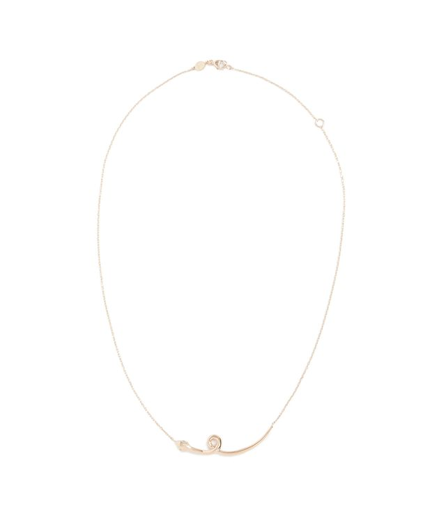 18K Gold Snake Necklace