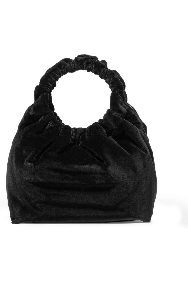 Double Circle Small Velvet Tote