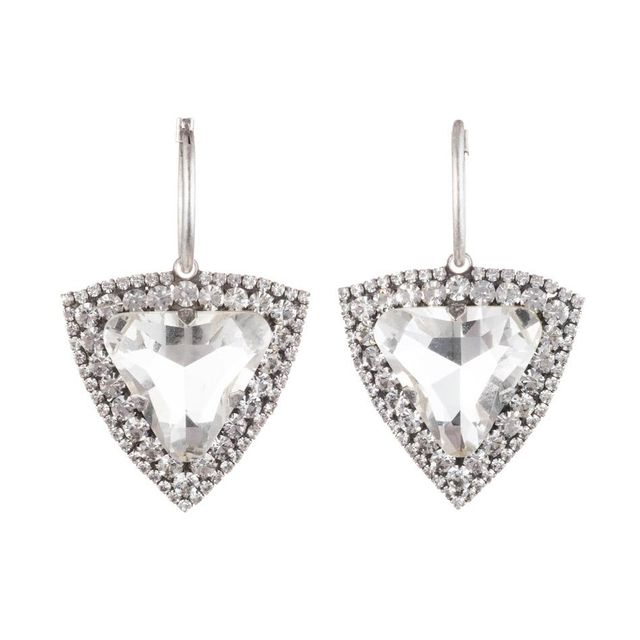 Dannijo Portner Heart Crystal Drop Earrings