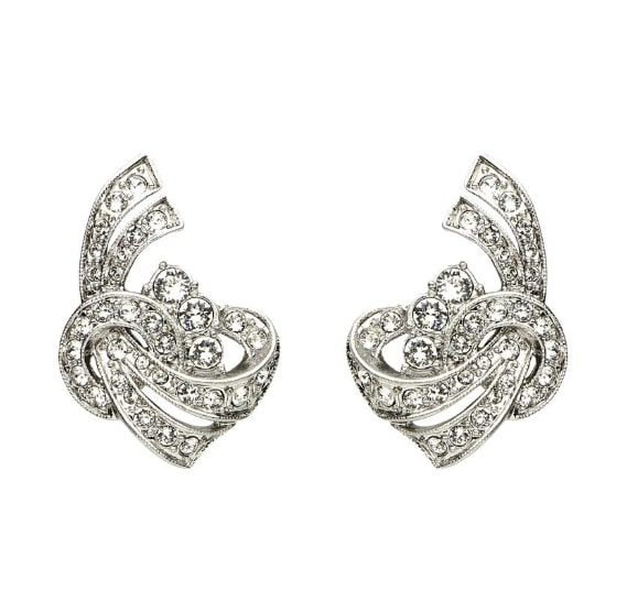 Ben-Amun Elegance Crystal Deco Post Earrings